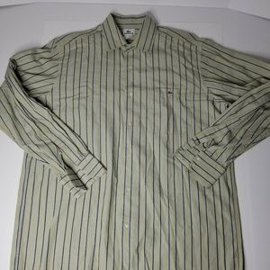 LACOSTE Long Sleeve Button Up Shirt Men's Size Lg.